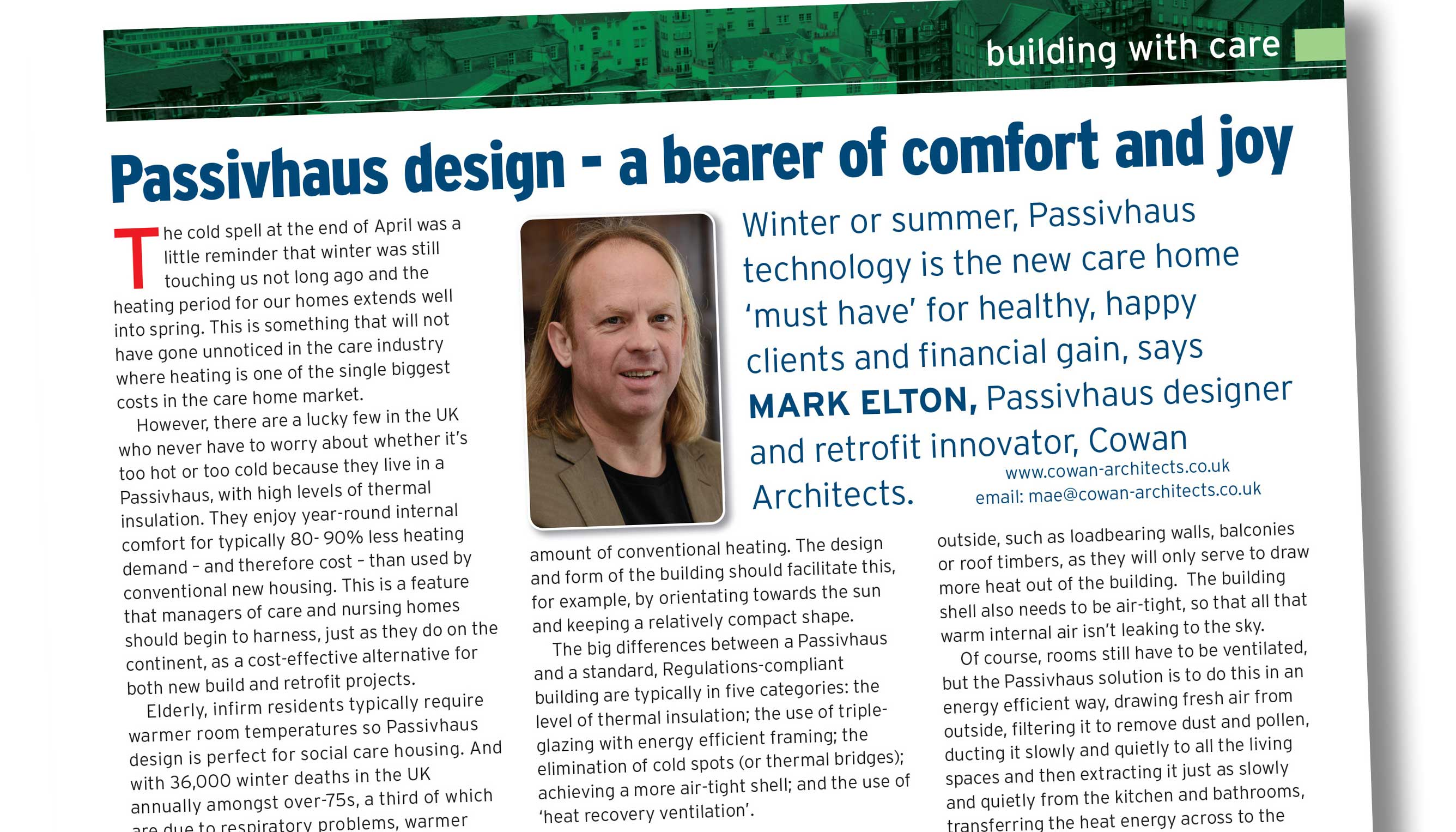 Caring Times Passivhaus Article