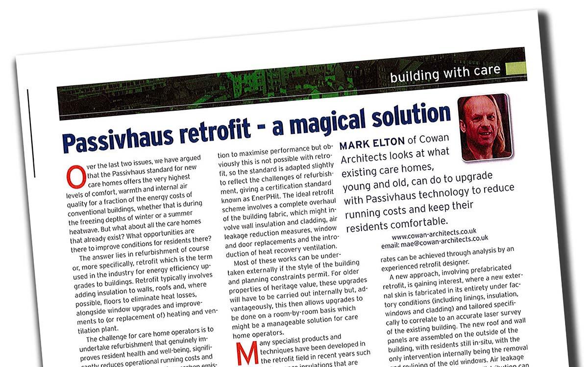 Caring Times Passivhaus Retrofit Article