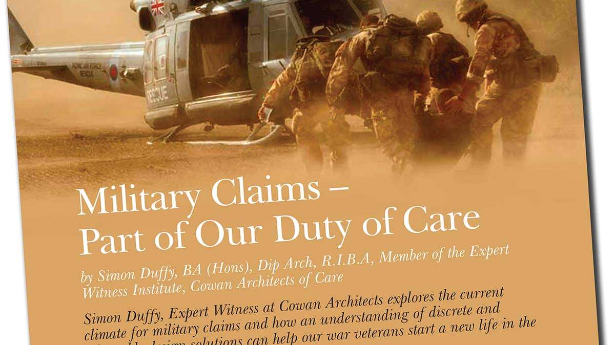 Expert Witness Journal Military Claims Article