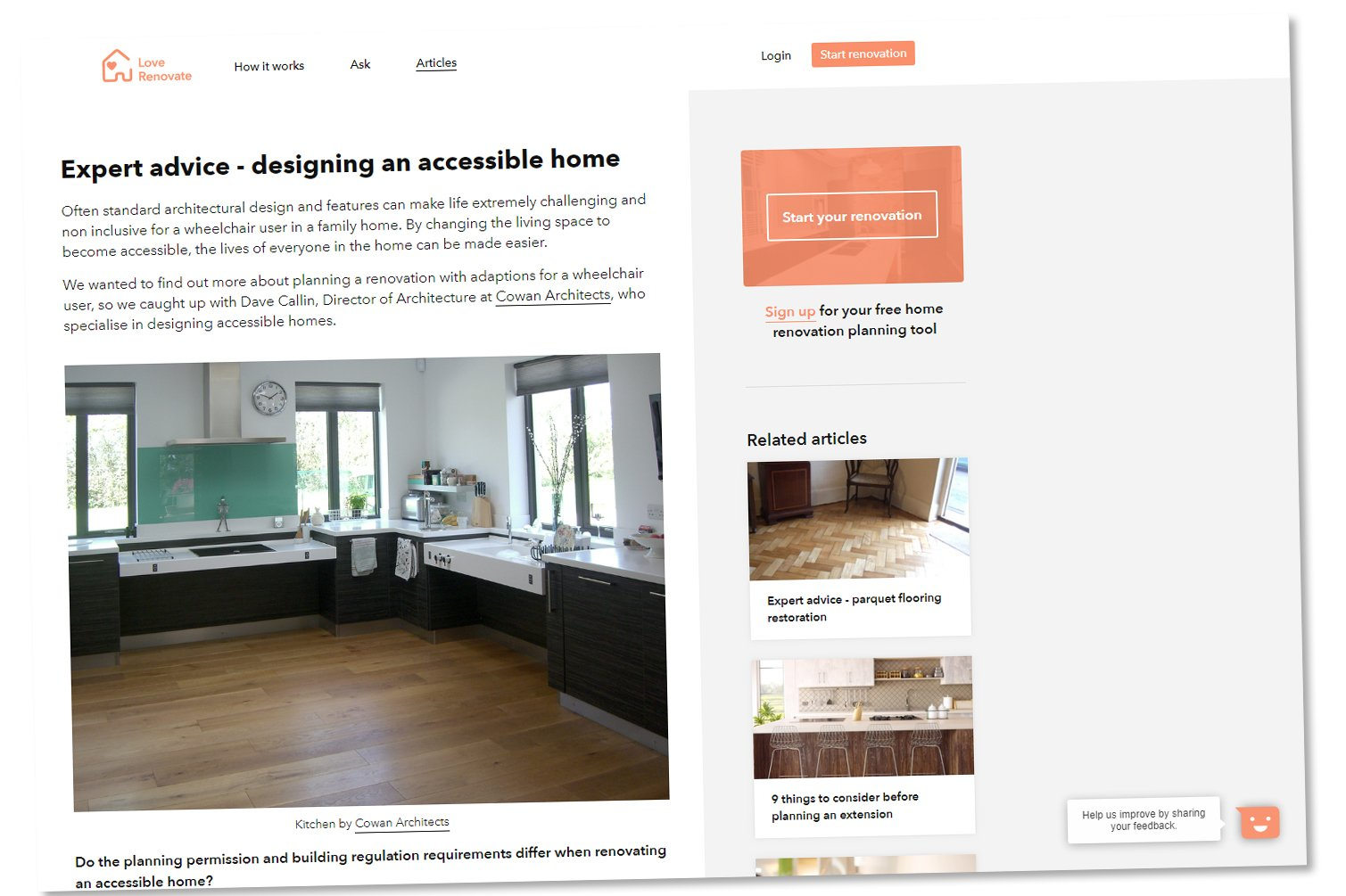 Cowan Architects Contribute To Love Renovates Article On