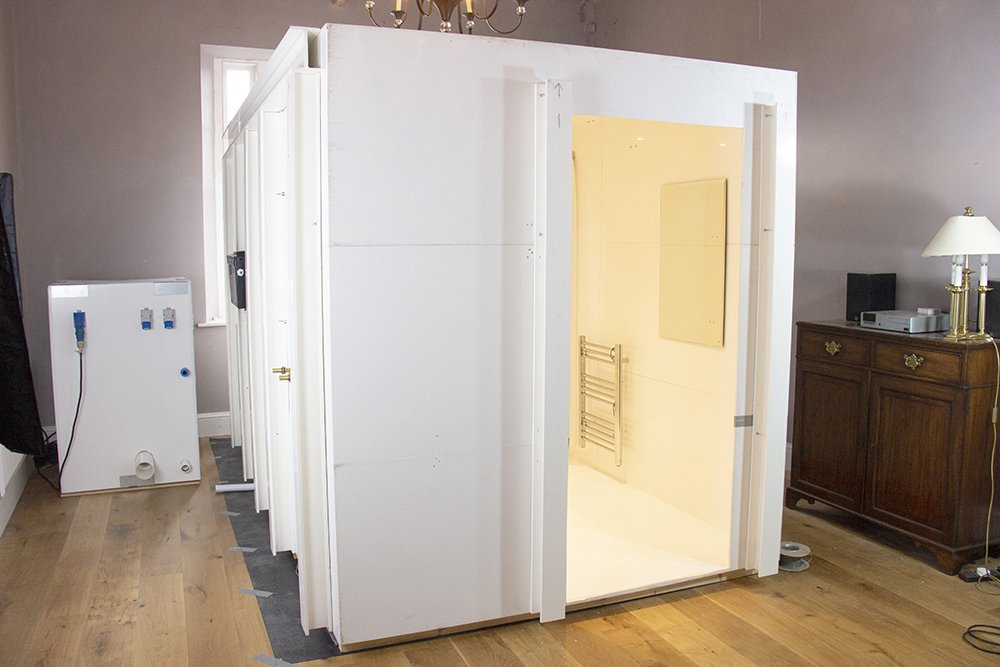 Internally erected WashPod disabled bathroom Unit