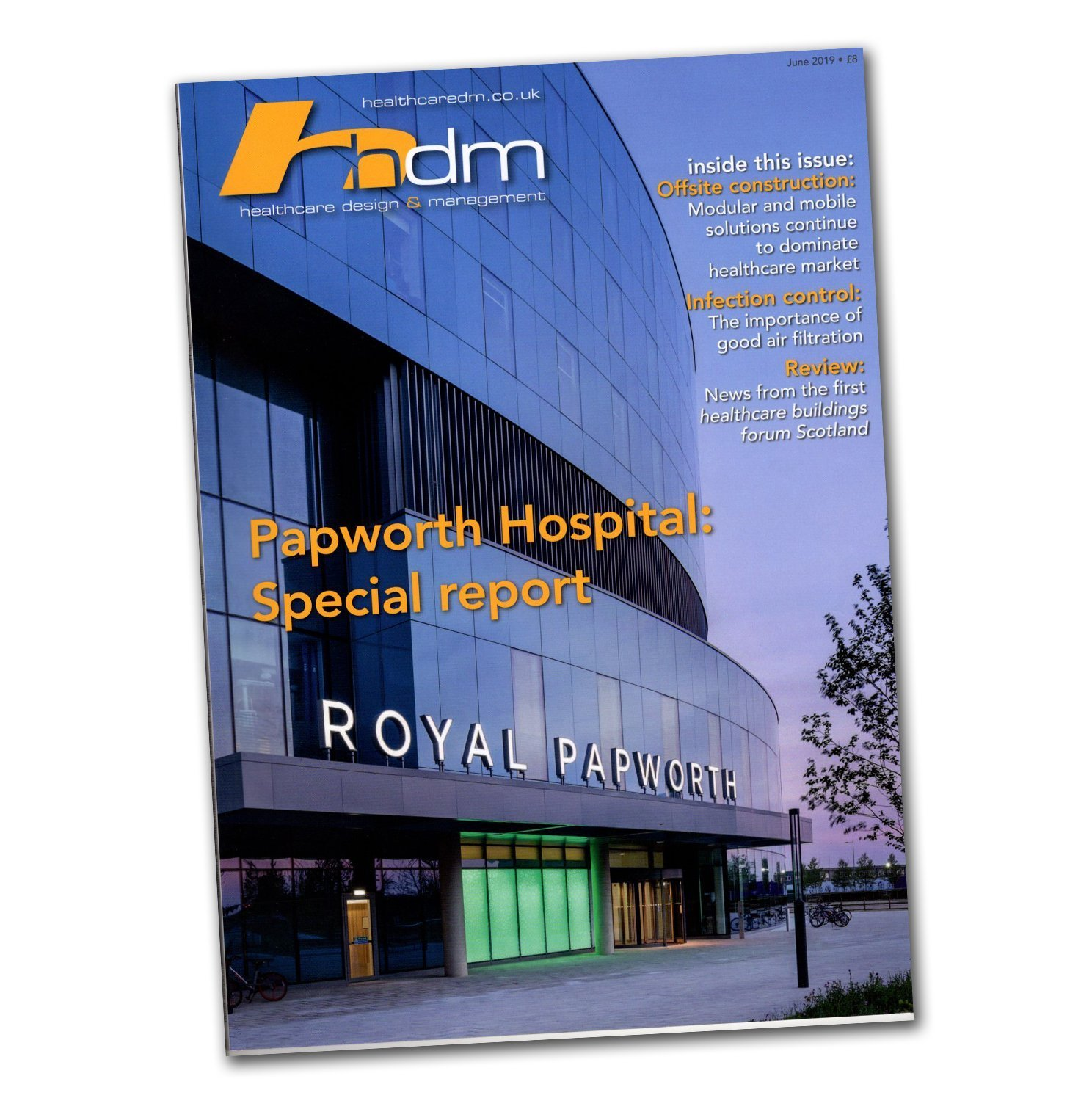 Front Cover of Healthcare Design Managment Magazine