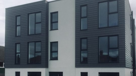 Photo of Timberframe modular apartments in Sidcup