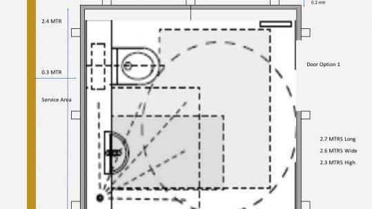 Architectural Sketch of Mini WashPod
