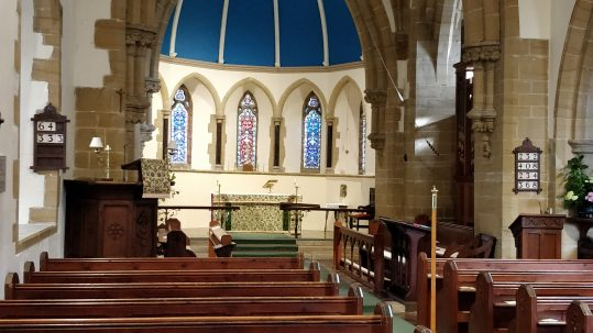Interior of Historic Church of St Peter, Offham