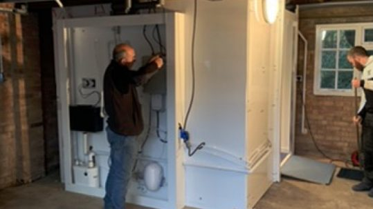 Photo of WashPod Installed in Sheffield garage