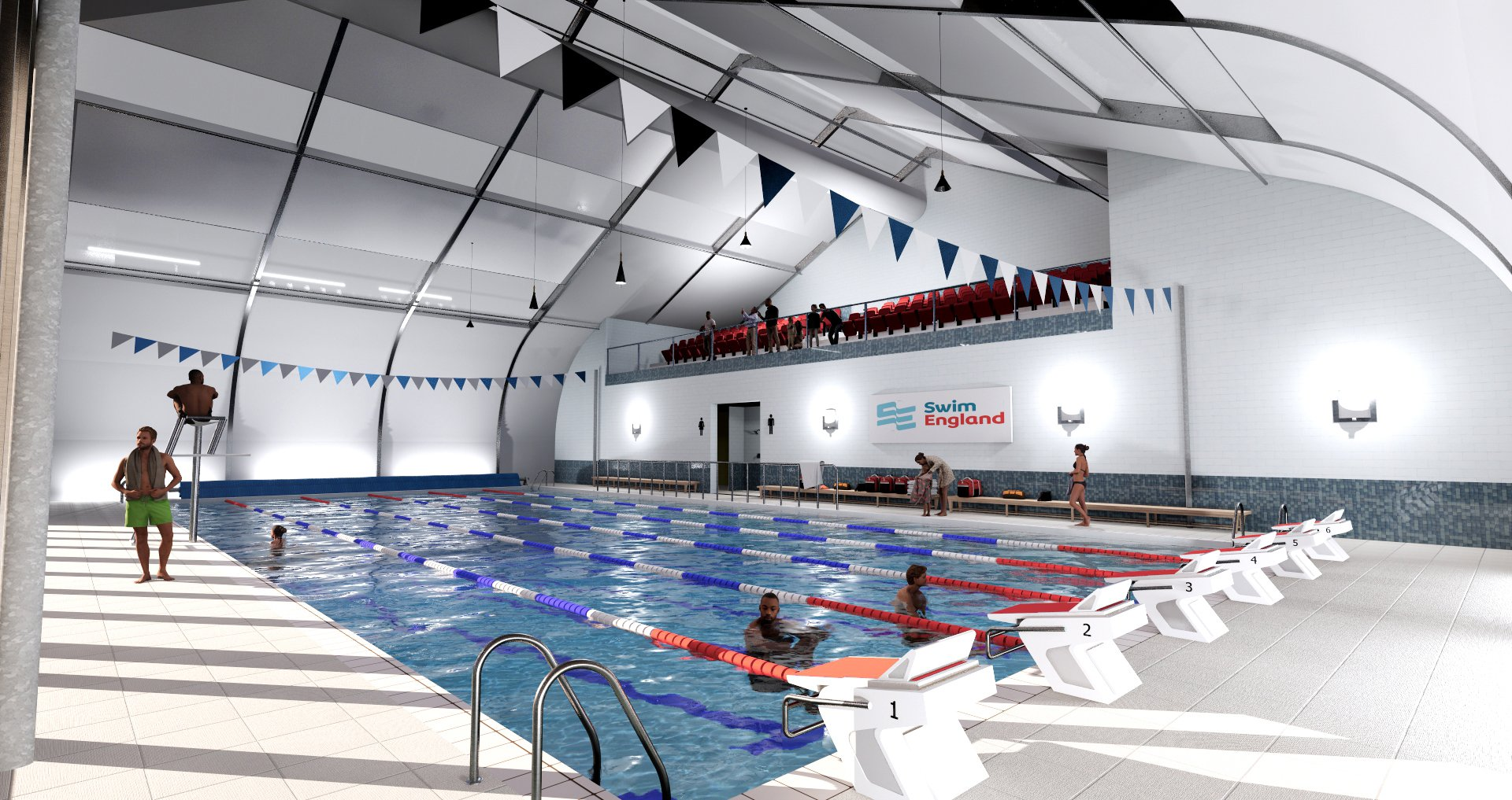 Artists impression of Paragon Sprung Swimming Pool