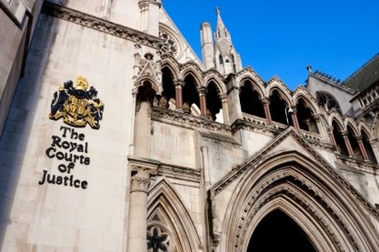 Photo of the Royal Courts of Justice in London